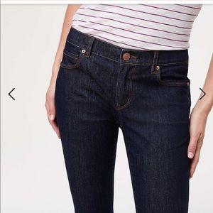 Loft modern skinny dark wash jeans NWT 28 or  6